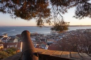 Coucher de soleil depuis le Castelo de São Jorge