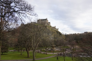 Princes Street Gardens and Edinburgh Castle