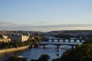 Prague depuis le parc de Letná