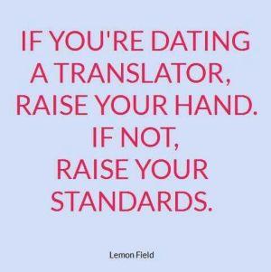 Dating a translator