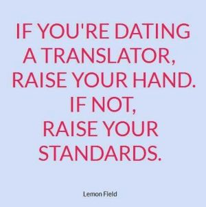 Dating a translator