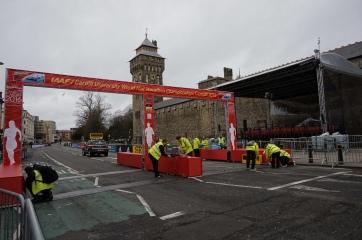 Le château de Cardiff juste avant le marathon