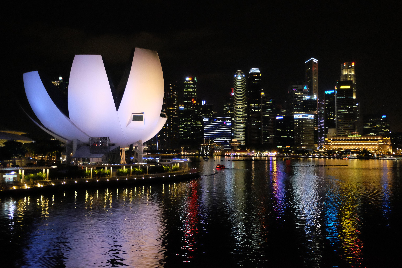 carte postale   singapour