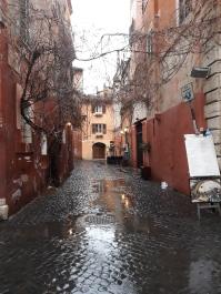 Trastevere sous la pluie