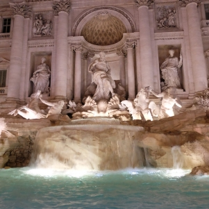 L'ultra-romantique fontaine de Trevi
