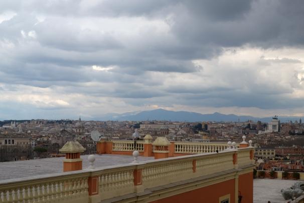 Vue sur Rome depuis la fontana del Giancolo