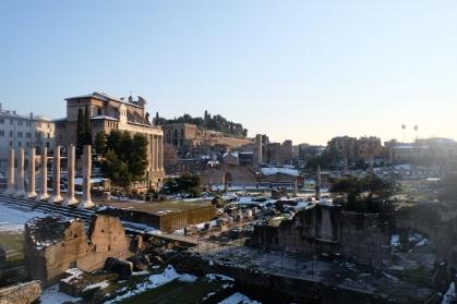 Le Forum sous le soleil...et la neige