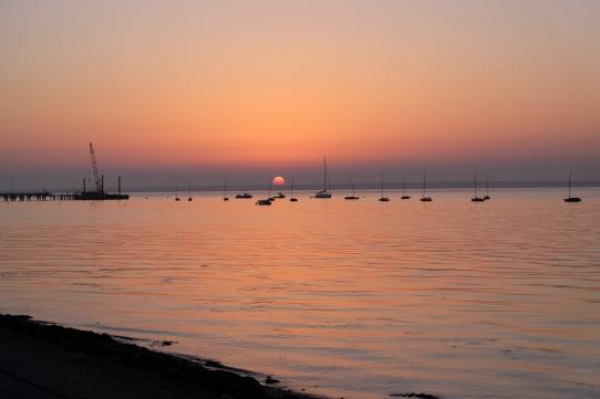 Coucher de soleil sur Yarmouth